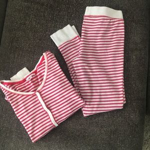 Victoria's secret thermal striped pajama set